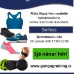 Fjóla Signý Hannesdóttir frjálsíþróttakona verður á ferð um Suðurland. (1)