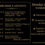 Aðventan á hendur í höfn